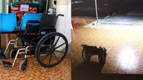 Rợn gáy cảnh xe lăn của người đã khuất tự di chuyển ở bệnh viện gây hoang mang