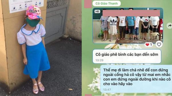 Đưa con đến trường sớm 15 phút, người mẹ xót lòng khi thấy con bị bắt đứng ngoài cổng mặc kệ trời nắng gắt