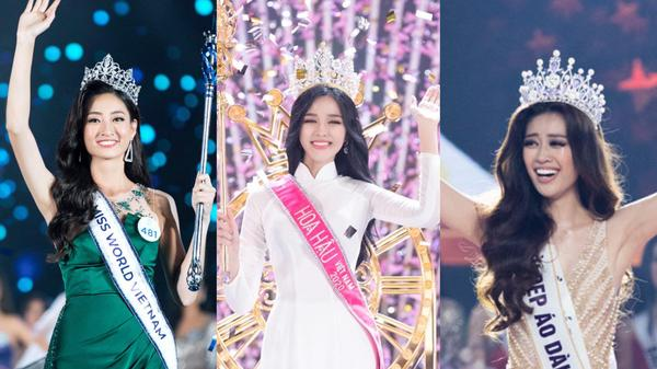 So học vấn top 3 các cuộc thi Hoa hậu đình đám nhất: HH Việt Nam, HH Hoàn vũ VN, HH Thế giới VN ai nắm trùm?