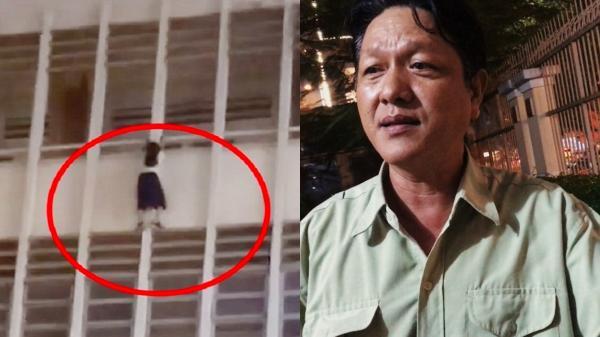 """Vụ giải cứu nữ sinh đu lan can tầng 3 ở TP.HCM: Bảo vệ trường kể lại 8 phút """"si.nh t.ử"""""""