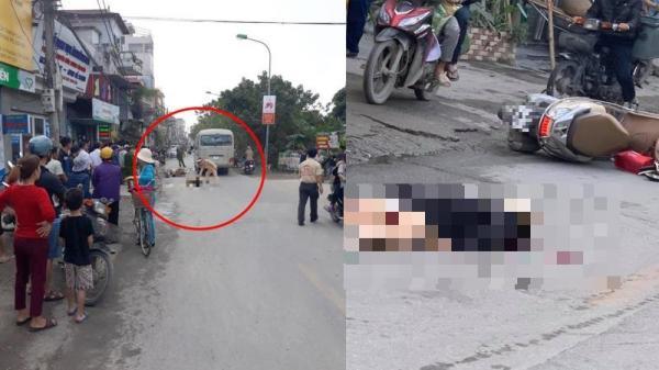 VỪA XONG: V.a ch.ạm xe khách, người phụ nữ điều khiển xe máy t.ử v.o.ng tại chỗ