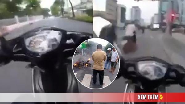 Clip: Cảnh sát đặc nhiệm nổ súng, truy đuổi cướp như phim hành động ở TP.HCM