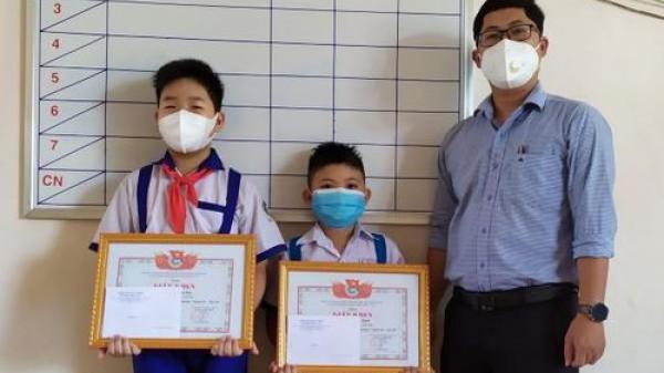 Bình Định: Biểu dương gương 'Người tốt - việc tốt' cho hai học sinh