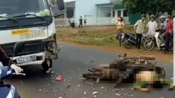 Đắk Lắk: Người đàn ông t.ử v.ong tại chỗ sau cú t.ông cực mạnh vào xe tải