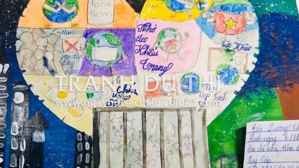 Đắk Lắk có một thiếu nhi có tác phẩm được xếp loại xuất sắc cuộc thi vẽ tranh về chủ đề phòng chống dịch Covid-19