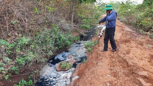 Đắk Lắk bắt quả tang doanh nghiệp xả thải gây ô nhiễm môi trường