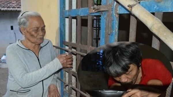 Quảng Ngãi: Đau đớn mẹ già 86 tuổi lo ch.ết đi không ai nuôi con trai tâm thần