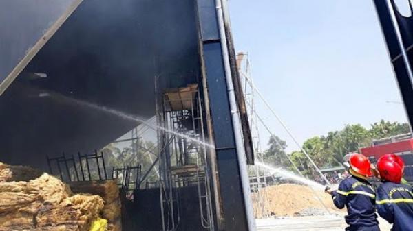 Cháy Berr club Phương Đông khi đang thi công tại Quảng Ngãi