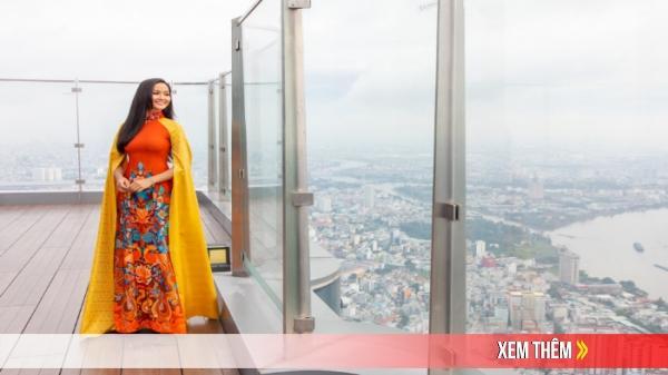 Hoa hậu quê Đắk Lắk - H'Hen Niê diện áo dài, quảng bá du lịch trên tòa nhà cao nhất Việt Nam