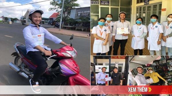 """Lần đầu đạt """"học sinh tiên tiến"""", nam sinh Đắk Lắk mang giấy khen đi chụp ảnh lưu niệm với cả thế giới"""