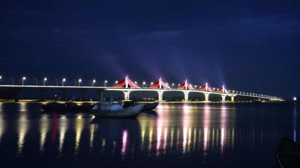 Cầu dây văng đầu tiên ở Quảng Ngãi có 5 kịch bản chiếu sáng