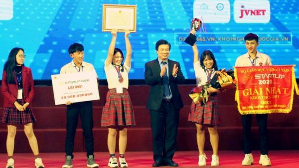 Trao ý tưởng khởi nghiệp xuất sắc nhất cho nhóm học sinh Đắk Lắk