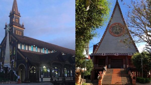 Haı ngôı nhà thּờ độᴄ đáo nhất ʋùng Tây Nguyên, nhà thּờ ở Kon Tum ʋınh dự được góp mặt