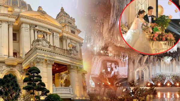 """Chân dung cô dâu chú rể """"trâm anh thế phiệt"""" trong đám cưới khủng ở lâu đài dát vàng: Hé lộ màn khóa môi ngọt ngào của cặp đôi"""