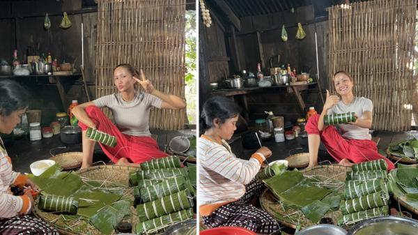 H'Hen Niê ᴋʜôɴɢ ɴʜậɴ show dịp Tết, нàσ нứng về Đắk Lắk ɢóɪ ʙáɴʜ tét phụ mẹ