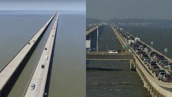 """Cây cầu dài nhất thế giới, """"nhiều người sợ chẳng dám đi, máy bay mượn luôn làm đường băng"""""""