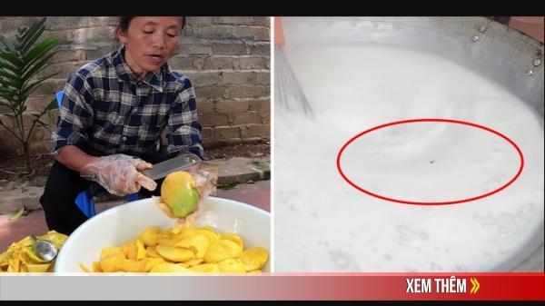 """Bà Tân Vlog cử hẳn người để đuổi ruồi nhưng cư dân mạng vẫn đặt nghi vấn về con ruồi """"bơi"""" trong nồi thạch ở clip mới"""