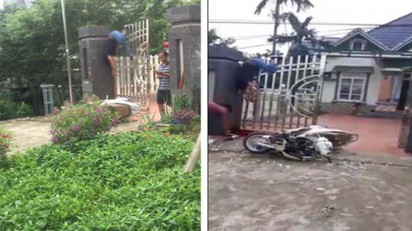Phóng xe tông trụ cổng, người đàn ông thiệt mạng treo lơ lửng trên cổng cao hơn 2m
