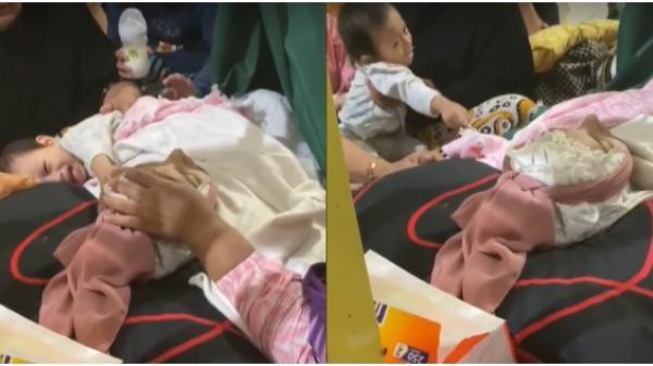 """Xót xa cảnh bé gái 1 tuổi đau đớn gọi """"Mẹ ơi"""" trong lần từ biệt cuối cùng trước khi người mẹ yên nghỉ"""