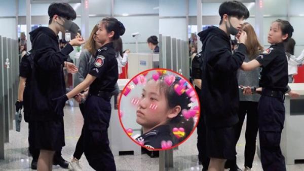 """Xuất hiện ở sân bay, trai đẹp tựa nam thần khiến nữ an ninh """"đứng hình"""", hội chị em yêu cầu cách ly ngay tại nhà em"""