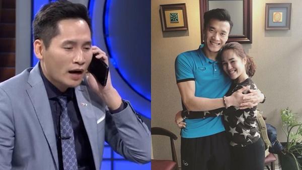 """Quản lý Tiến Dũng mượn status đi """"đá xoáy"""" BTV Quốc Khánh sau vụ gọi điện Văn Lâm sang Philippines bắt thay"""