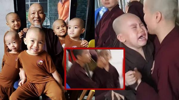 Lộ clip 5 chú tiểu bị bạo hành khi không chịu quay clip 'câu view': 'Đừng đánh con mà, thầy ơi con sợ rồi'?