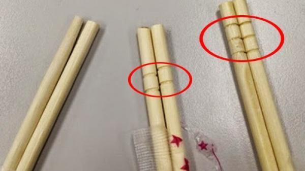 Nếu thấy đũa dùng một lần có khắc những vòng tròn như thế này,chớdại mà sử dụng