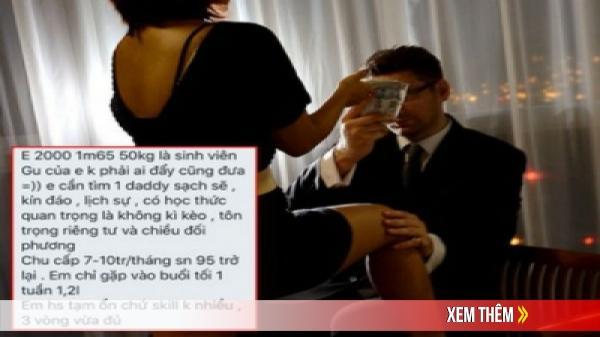 """Các nữ sinh 2k vào group kín tìm """"sugar daddy"""" chu cấp 8 - 10 triệu/ tháng, chuyên gia lên tiếng: """"Cần lên án nhưng khó xử lý"""""""
