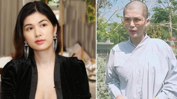 """""""Hoa hậu được bạn trai tặng biệt thự 100 tỷ"""" bất ngờ cạo trọc đầu, mặc áo Phật tử"""