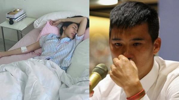 Công Vinh xót xa chia sẻ ảnh Thủy Tiên kiệt sức, ốm liệt giường sau cả tháng trời đi cứu trợ