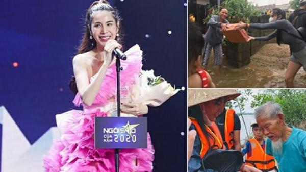 """Ca sĩ Thủy Tiên lộng lẫy trên thảm đỏ nhận giải """"Ngôi sao Cống hiến"""": Rất xứng đáng!"""