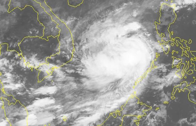 Hình ảnh mây vệ tinh của bão số 6 - Nguồn: Trung tâm Dự báo khí tượng thủy văn quốc gia
